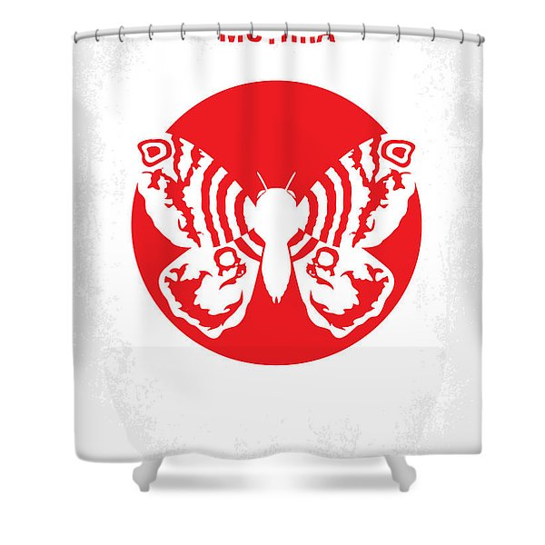 No391 My Mothra Minimal Movie Poster Shower Curtain