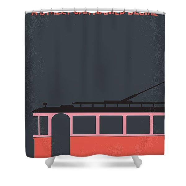 No397 My Street Car Named Desire Minimal Movie Poster Shower Curtain