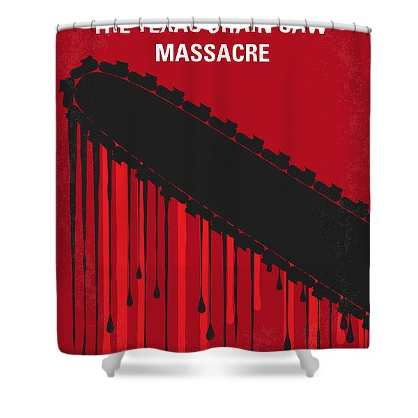 No410 My The Texas Chain Saw Massacre Minimal Movie Poster Shower Curtain
