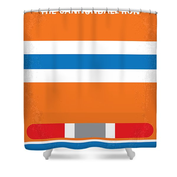 No411 My The Cannonball Run Minimal Movie Poster Shower Curtain
