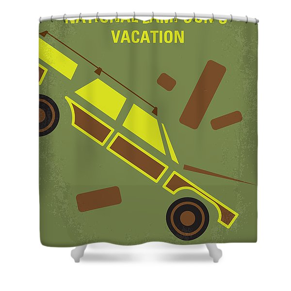 No412 My National Lampoons Vacation Minimal Movie Poster Shower Curtain