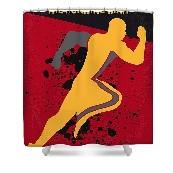 No425 My Running Man Minimal Movie Poster Shower Curtain