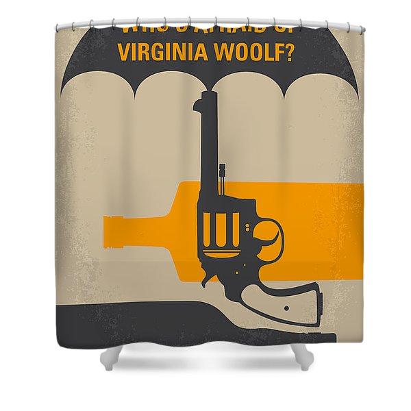 No426 My Whos Afraid Of Virginia Woolf Minimal Movie Poster Shower Curtain