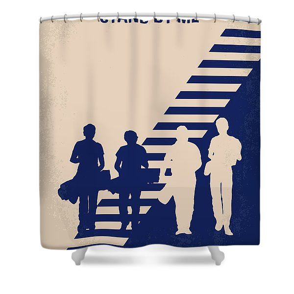 No429 My Stand By Me Minimal Movie Poster Shower Curtain