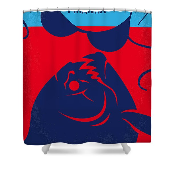No433 My Piranha Minimal Movie Poster Shower Curtain