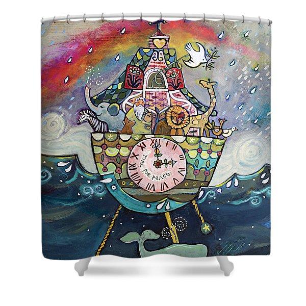 Noah's Ark Cuckoo Clock Wall Art Shower Curtain