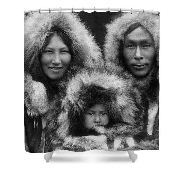 Noatak Indians Circa 1929 Shower Curtain