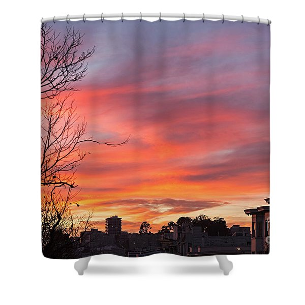 Nob Hill Sunset Shower Curtain