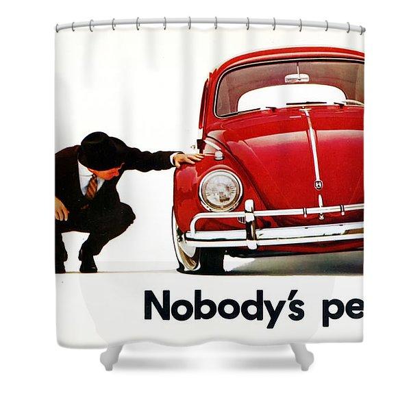 Nobodys Perfect - Volkswagen Beetle Ad Shower Curtain