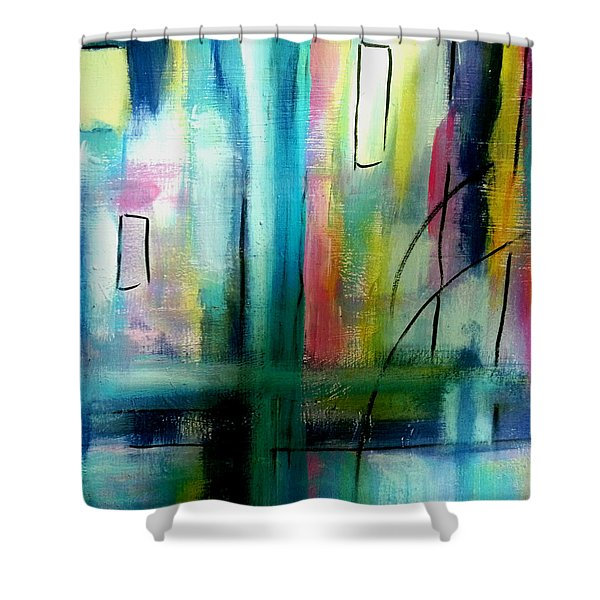Nocturnal Waterfront Shower Curtain