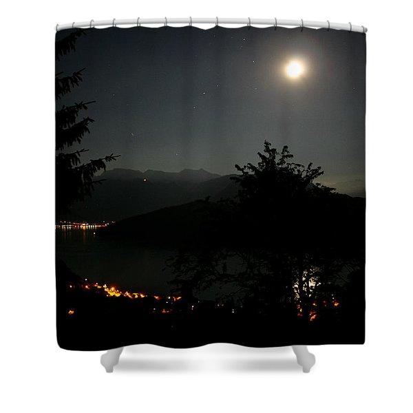 Nocturne In Switzerland Shower Curtain