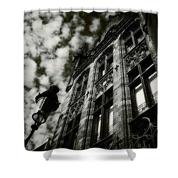 Noir Moment In Brugges Shower Curtain