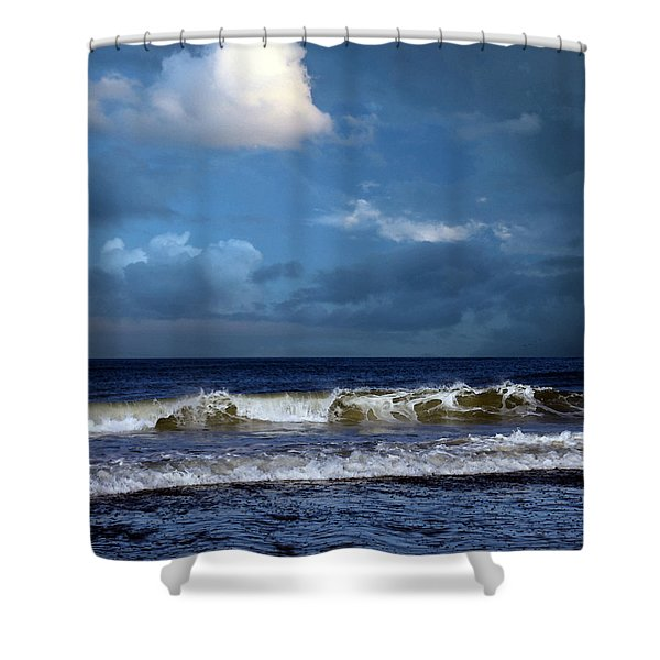 Nor'easter Blowin' In Shower Curtain