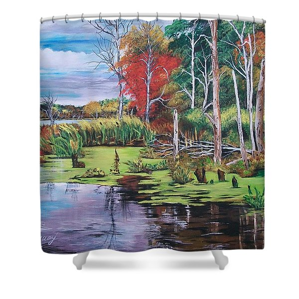 Norman Lake  Shower Curtain