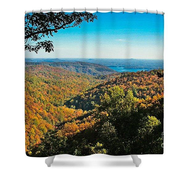 North Carolina Fall Foliage Shower Curtain