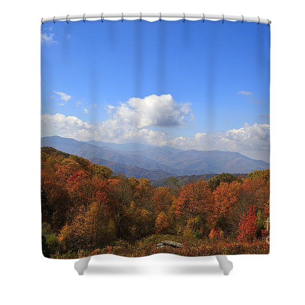 North Carolina Mountains In The Fall Shower Curtain