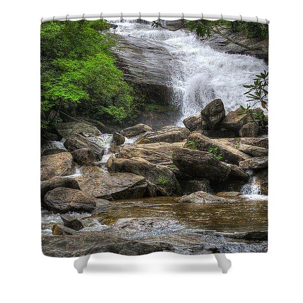 North Carolina Waterfall Shower Curtain