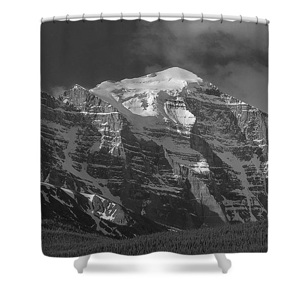 203553-north Face Mt. Temple Bw Shower Curtain
