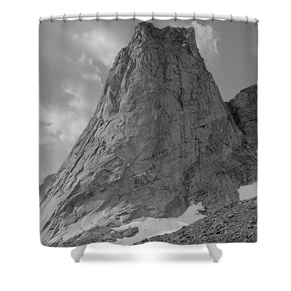 109649-bw-north Face Pingora Peak, Wind Rivers Shower Curtain