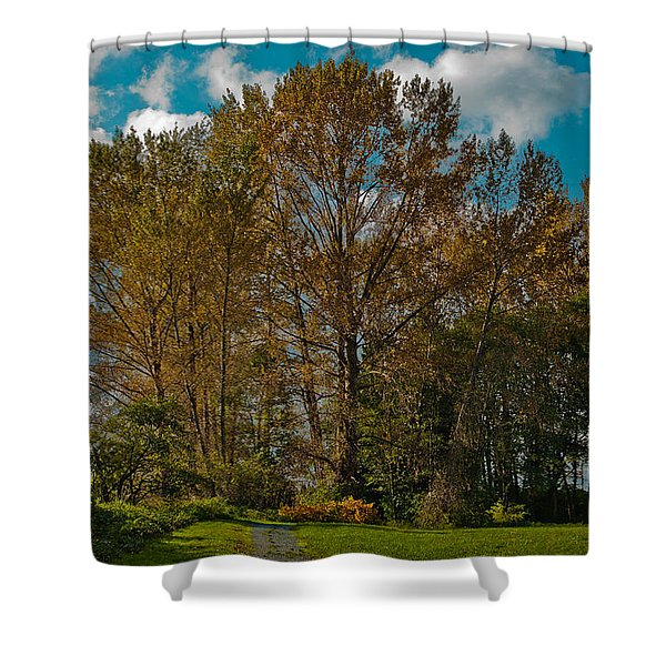 North Lions Park In Mount Vernon Washington Shower Curtain