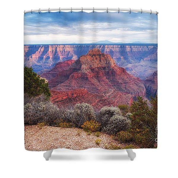 North Rim Grand Canyon Arizona Desert Southwest Solitude At Cape Royal Shower Curtain