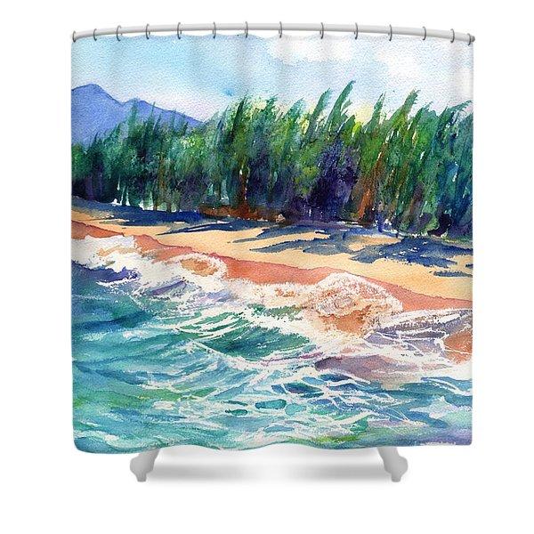 North Shore Beach 2 Shower Curtain