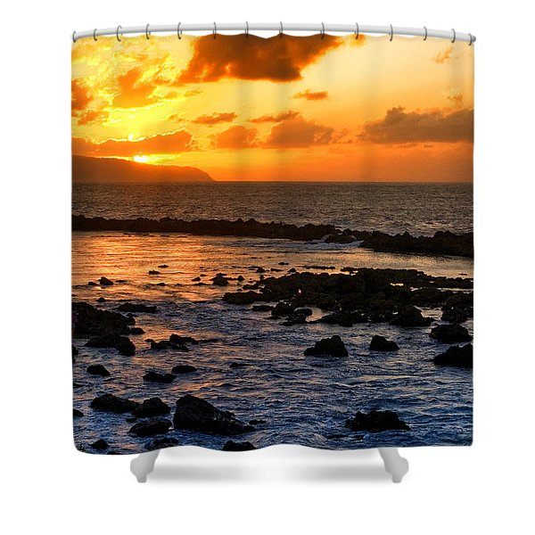 North Shore Sunset Shower Curtain