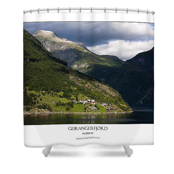 Norway Geiranger Geirangerfjord Fjord Shower Curtain