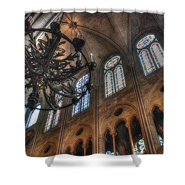 Notre Dame Interior Shower Curtain