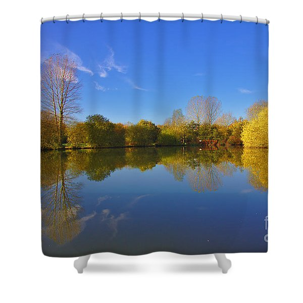 Shower Curtain featuring the photograph November Lake 1 by Jeremy Hayden