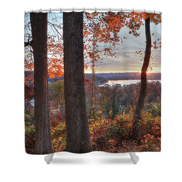 November Morning At The Lake Shower Curtain
