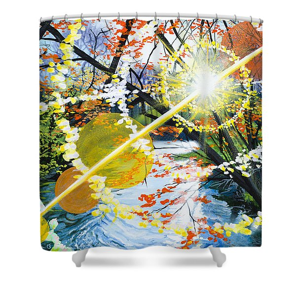 The Glorious River Shower Curtain