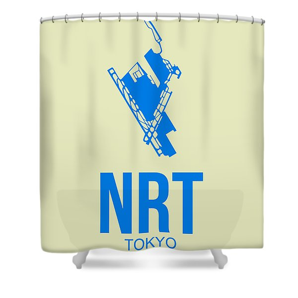 Nrt Tokyo Airport Poster 3 Shower Curtain