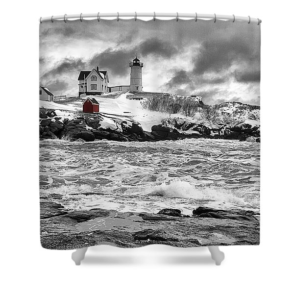 Nubble Lighthouse After The Storm Shower Curtain
