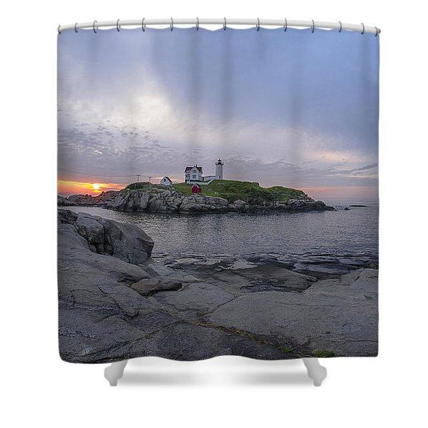 Nubble Lighthouse Shower Curtain
