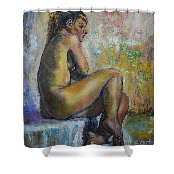 Nude Eva 1 Shower Curtain