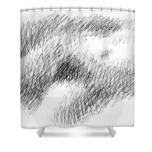 Nude Female Abstract Drawings 1 Shower Curtain