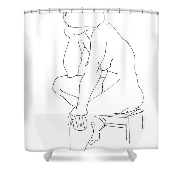 Nude Female Drawings 12 Shower Curtain