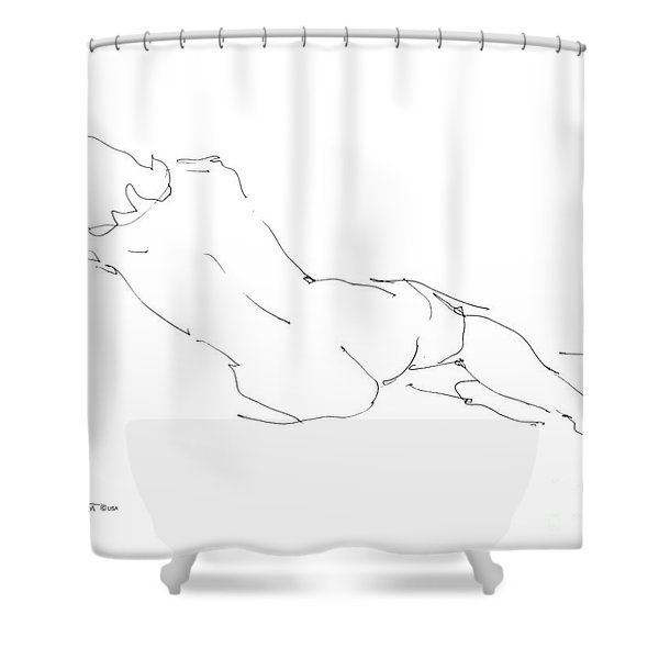 Nude Female Drawings 9 Shower Curtain