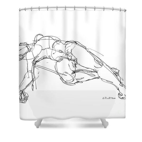 Nude Male Drawings 1 Shower Curtain