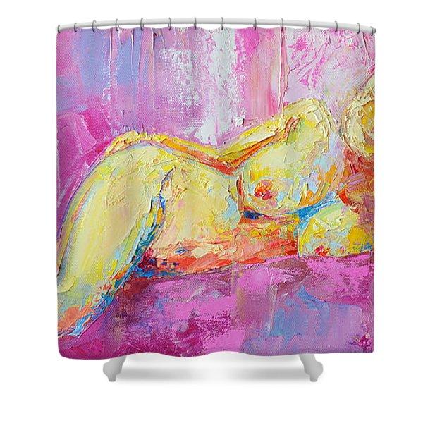 Nude Woman Figure No. 6 Shower Curtain