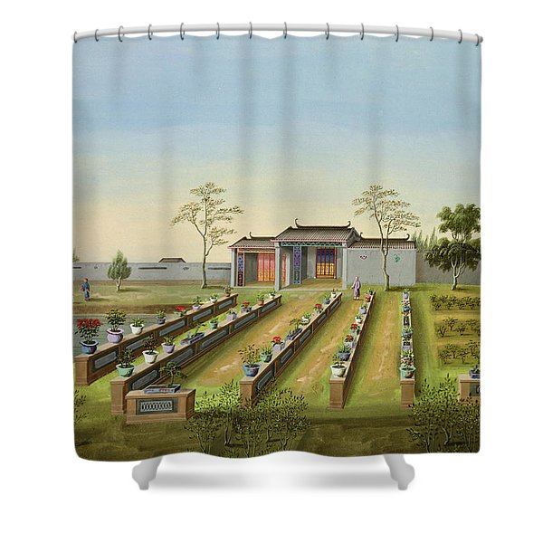 Nursery Garden, C.1820-40 Shower Curtain
