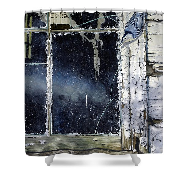 Nuthatch And Window Shower Curtain