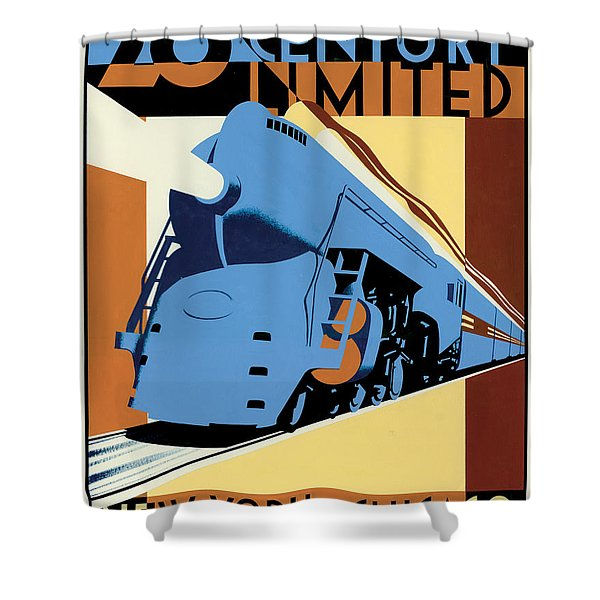 Ny To Chicago Shower Curtain