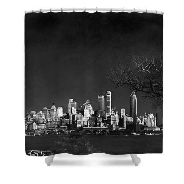 Nyc From Governors Island Shower Curtain