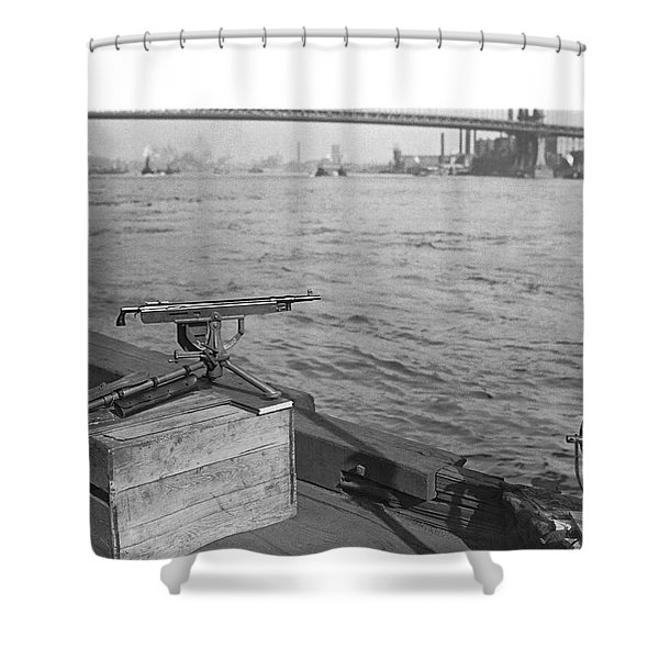Nyc Prohibition Police Boat Shower Curtain