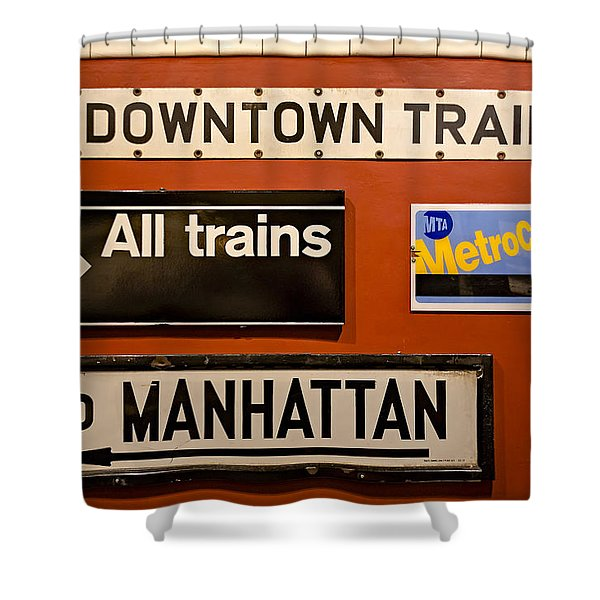 Nyc Subway Signs Shower Curtain