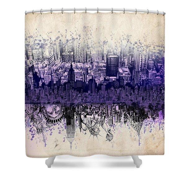 Nyc Tribute Skyline 2 Shower Curtain