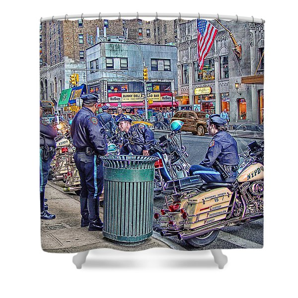 Nypd Highway Patrol Shower Curtain