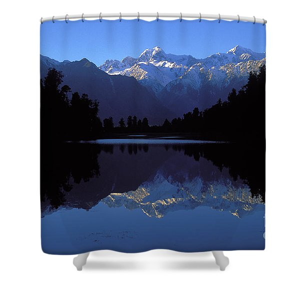 New Zealand Alps Shower Curtain